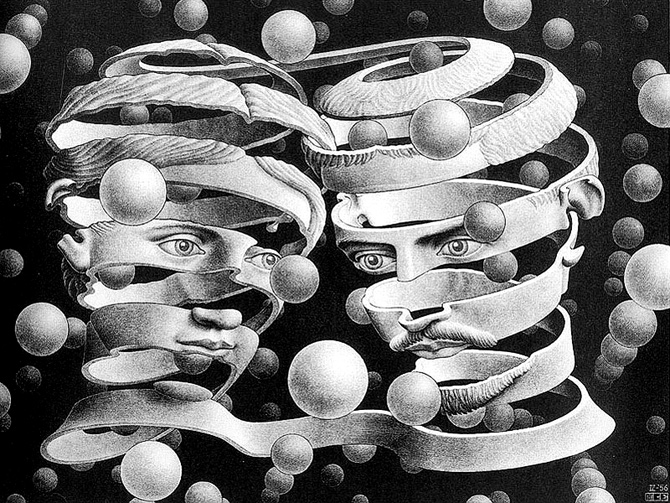 M.C. Escher -Bond of Union